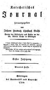 Katechetisches Journal: Erster Jahrgang. Viertes Heft