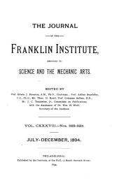 Journal of the Franklin Institute: Volume 138