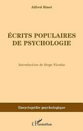 Ecrits populaires de psychologie