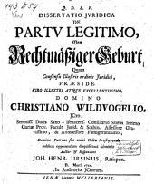 De partu legitimo: Maart 1710