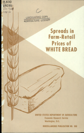 Spreads in farm-retail prices of white bread