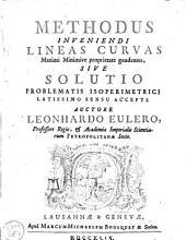 Methodus inveniendi lineas curvas maximi minimive proprietate gaudentes: sive Solutio problematis isoperimetrici latissimo sensu accepti