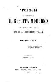 Apologia del Libro Intitolato Il Gesuita Moderno