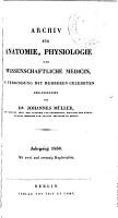 Archiv f  r Anatomie  Physiologie und wissenschaftliche Medicin PDF