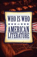 Who Is Who in American Literature PDF