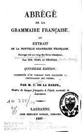 Abrégé de la grammaire française ou Extrait de la nouvelle grammaire française