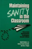 Maintaining Sanity In The Classroom PDF