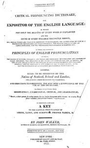 A Critical Pronouncing Dictionary PDF