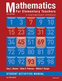 Mathematics for Elementary Teachers  A Contemporary Approach 10e Student Activity Manual