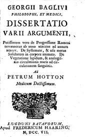 Georgii Baglivi philosophi, et medici Canones de medicina solidorum ad rectum statices usum