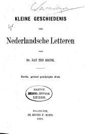 Kleine Geschiedenis der Nederlandsche Letteren