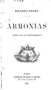 Armonias: libro de un desterrado