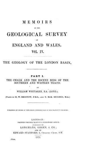 Memoirs of the Geological Survey of England and Wales