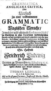 Grammatica anglicana critica
