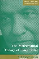 The Mathematical Theory of Black Holes PDF