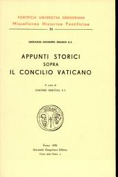 Appunti storici sopra il Concilio Vaticano