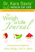 The Weigh of Life Journal PDF