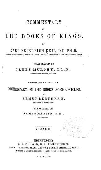 Commentary on the Books of Kings PDF