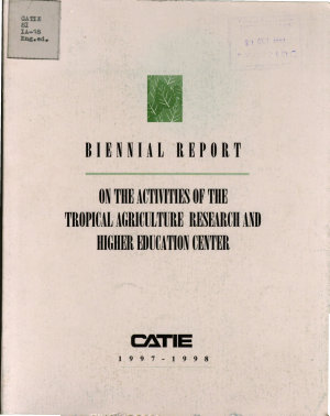 On the Activities of the Tropical Agriculture Research and Higher Education Center PDF