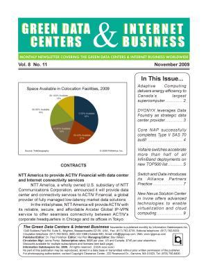 Green Data Center Monthly Newsletter November 2009 PDF