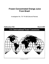 Frozen Concentrated Orange Juice from Brazil: Investigation No. 731-TA-326 (second Review).