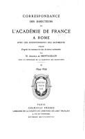 Correspondance des directeurs de l Acad  mie de France    Rome avec les surintendants des b  timents PDF