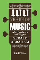 One Hundred Years of Music PDF