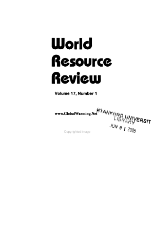 World Resource Review