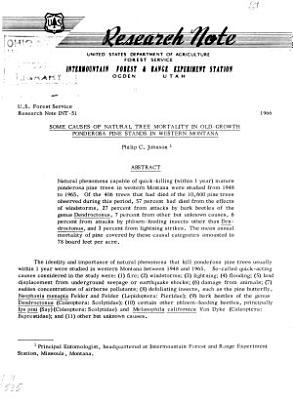 U S  Forest Service Research Note INT PDF
