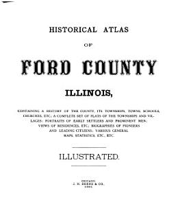 Historical Atlas of Ford County  Illinois Book