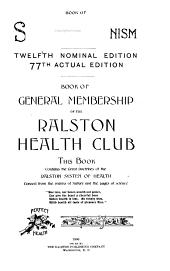 Star Ralstonism ...: Book of General Membership ...