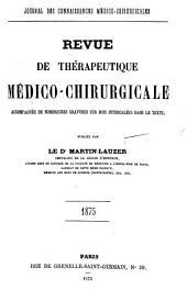 Revue de thérapeutique médico-chirurgicale: Volume1875