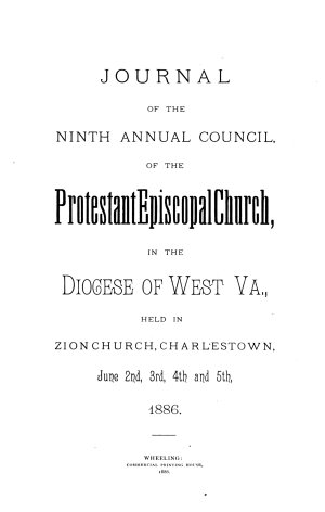 Journal of the     Annual Convention  Diocese of West Virginia