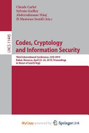 Codes, Cryptology and Information Security
