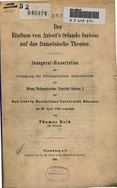 Der Einfluss von Ariost's Orlando Furioso auf das franzosische Theater