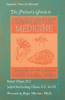 The Patient s Guide to Homeopathic Medicine PDF