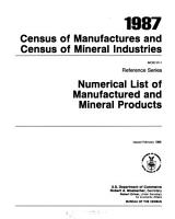 Census of Manufactures and Census of Mineral Industries PDF