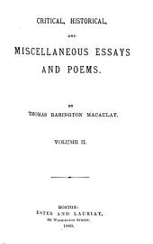 Critical, Historical, and Miscellaneous Essays and Poems: Volume 2