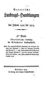 Baierische Landtags-Handlungen in den Jahren 1429 bis 1513: Oberländische Landtäge, im Münchener Landantheile (1460 - 1469). 5