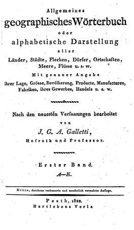 Allgemeines geographisches W  rterbuch  3  verb  u  verm  Aufl PDF