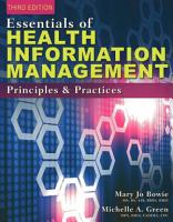 Essentials of Health Information Management  Principles and Practices PDF