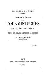 Mémoire sur les foraminifères du système oolithique: ètude du fullers-earthe de la Moselle, Numéros1à3