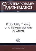 Probability Theory and Its Applications in China PDF