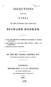 Selections from the works of ... Richard Hooker, by H. Clissold