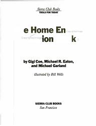 The Home Energy Decision Book PDF