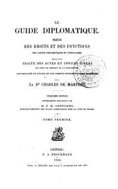 Guide diplomatique: Volume1