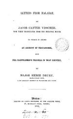 Letters from Malabar, tr.: to which is added An account of Travancore, and fra Bartolomeo's travels in that country. By H. Drury