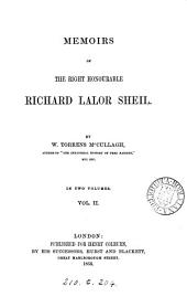 Memoirs of the right honourable Richard Lalor Sheil