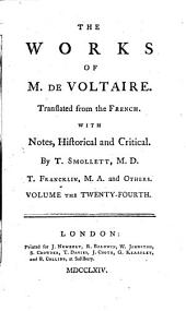 The Works of M. de Voltaire: A treatise on toleration