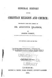 General History of the Christian Religion and Church: Volume 3
